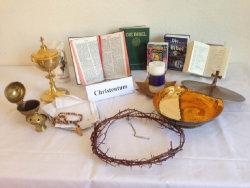 Verschiedene Medien zum Christentum